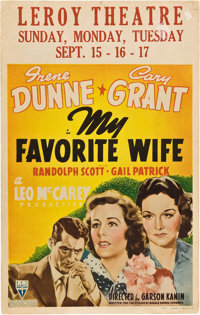 "My Favorite Wife (RKO, 1940). Window Card (14"" X 22"")"