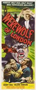 "Movie Posters:Horror, Werewolf of London (Realart, R-1951). Insert (14"" X 36"").. ..."