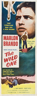"The Wild One (Columbia, 1953). Insert (14"" X 36"")"