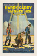 "Movie Posters:Western, Marked Men (Universal, 1919). One Sheet (27"" X 41"").. ..."