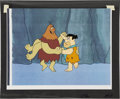 Animation Art:Production Drawing, Fred Flintstone Animation Production Cel Original Art(Hanna-Barbera, undated)....