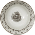 """Political:3D & Other Display (pre-1896), William Henry Harrison: 1840 """"Columbian Star"""" Campaign Bowl...."""