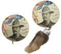 """Political:Pinback Buttons (1896-present), Theodore Roosevelt: A Very Choice Pair of 1¾"""" Buttons Supporting Teddy for New York Governor and then Vice President.... (Total: 2 Items)"""