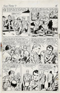 Original Comic Art:Panel Pages, Jack Kirby and George Roussos Sgt. Fury #7, page 11 OriginalArt (Marvel, 1964). . ...