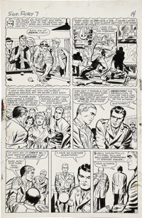 Jack Kirby and George Roussos Sgt. Fury #7, page 11 Original Art (Marvel, 1964)