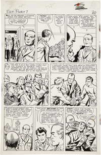 Jack Kirby and George Roussos Sgt. Fury #7, page 16 Original Art (Marvel, 1964)
