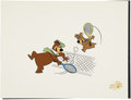 Animation Art:Production Drawing, Yogi Bear and Boo Boo Tennis Limited Edition Serigraph Cel(Hanna-Barbera, undated)....