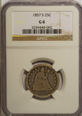 Seated Quarters, 1857-S 25C Good 6 NGC. NGC Census: (0/34). PCGS Population (0/24).Mintage: 82,000. Numismedia Wsl. Price for NGC/PCGS coin...