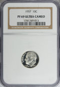 Proof Roosevelt Dimes: , 1957 10C PR69 Ultra Cameo NGC. NGC Census: (13/0). PCGS Population(3/0). Numismedia Wsl. Price for NGC/PCGS coin in PR69:...