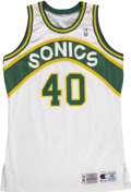 Basketball Collectibles:Uniforms, Shawn Kemp Signed Game Used Jersey. ...