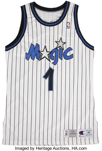 best sneakers f3d46 8b113 Penny Hardaway Game Used Orlando Magic Jersey.... Basketball ...