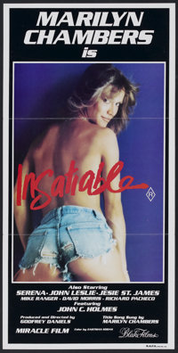 "Insatiable (Miracle Films, 1980). Australian Daybill (13.25"" X 26.75""). Adult"