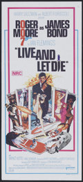 """Movie Posters:James Bond, Live and Let Die (United Artists, 1973). Australian Daybill (13.5"""" X 30""""). James Bond.. ..."""