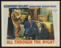 """Movie Posters:Action, All Through the Night (Warner Brothers, 1942). Lobby Card (11"""" X 14""""). Action.. ..."""