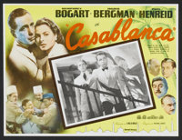 """Casablanca (United Artists, R-1960s). Mexican Lobby Cards (2) (12.5"""" X 16.5""""). Drama. ... (Total: 2 Items)"""