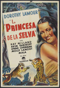 "Movie Posters:Adventure, The Jungle Princess (Paramount, R-1940s). Argentinean Poster (29"" X43""). Adventure.. ..."