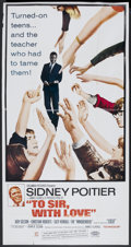 "Movie Posters:Drama, To Sir, with Love (Columbia, 1967). Three Sheet (41"" X 81""). Drama.. ..."