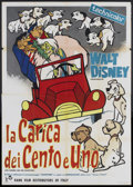 "Movie Posters:Animated, 101 Dalmatians (Walt Disney, 1961). Italian 4 - Folio (55"" X 78""). Animated.. ..."