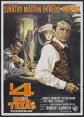 "Movie Posters:Western, 4 for Texas (Warner Brothers, 1963). Italian 4 - Folio (55"" X 78"").Western.. ..."