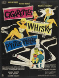 "Movie Posters:Comedy, Cigarettes, Whiskey and Wild Women (SIDA, 1959). French Affiche (23"" X 30""). Comedy.. ..."