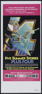 "Five Summer Stories (Associated Screen Arts, 1972). Australian Daybill (13"" X 30""). Documentary"