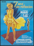 "Movie Posters:Comedy, The Seven Year Itch (20th Century Fox, R-1965). French Poster (23""X 31""). Comedy.. ..."