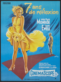 """The Seven Year Itch (20th Century Fox, R-1965). French Poster (23"""" X 31""""). Comedy"""