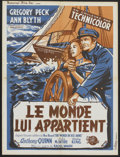 "Movie Posters:Adventure, The World in His Arms (Universal, 1952). French Petite (23.5"" X31.5""). Adventure.. ..."