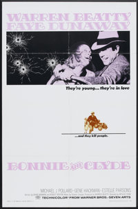 """Bonnie and Clyde (Warner Brothers-Seven Arts, 1967). One Sheet (27"""" X 41""""). Crime"""