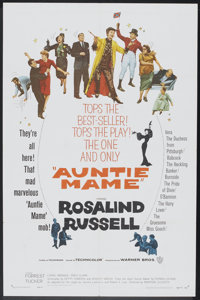 """Auntie Mame (Warner Brothers, 1958). One Sheet (27"""" X 41""""). Comedy"""