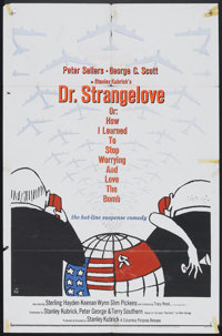 "Dr. Strangelove or: How I Learned to Stop Worrying and Love the Bomb (Columbia, 1964) One Sheet (27"" X 41""). C..."