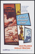 """Movie Posters:Film Noir, I Died a Thousand Times (Warner Brothers, 1955). One Sheet (27"""" X 41""""). Film Noir.. ..."""
