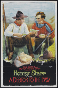 """A Debtor to the Law (Pan American, 1919). One Sheet (26.5"""" X 40""""). Western"""