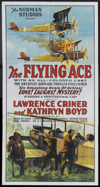 "The Flying Ace (Norman, 1926). Three Sheet (41"" X 81""). Black Films"