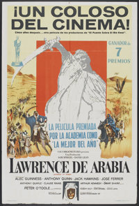 """Lawrence of Arabia (Columbia, 1962). Argentinean Poster (29"""" X 43""""). War"""