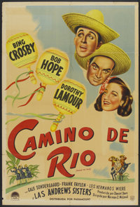 """Road to Rio (Paramount, 1948). Argentinean Poster (29"""" X 43""""). Comedy"""