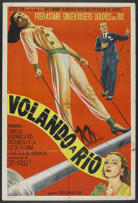 """Flying Down to Rio (Astor, R-1940s). Argentinean Poster (29"""" X 43""""). Musical"""