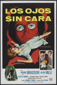 """Eyes Without a Face (Columbia, 1960). Argentinean Poster (29"""" X 43""""). Horror"""