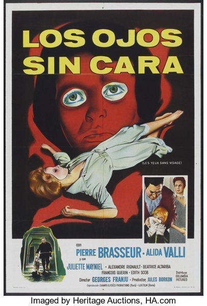 Eyes Without A Face Columbia 1960 Argentinean Poster 29 X