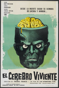 "The Brain (Governor Films, 1962). Argentinean Poster (29"" X 43""). Horror"