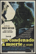 """Movie Posters:Drama, A Man Escaped (DIFA, 1956). Argentinean Poster (29"""" X 43""""). Drama.. ..."""