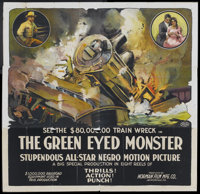 "The Green Eyed Monster (Norman, 1919). Six Sheet (81"" X 81""). Black Films"