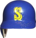Baseball Collectibles:Others, Ken Griffey Jr. Signed Game Used Batting Helmet. ...