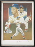 Autographs:Others, Stan Musial Signed Framed Artwork....