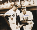 Autographs:Photos, Ted Williams And Joe DiMaggio Dual - Signed Oversized Photograph....