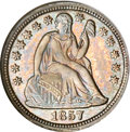 Proof Seated Dimes, 1857 10C PR65 NGC. CAC....