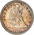 Seated Quarters, 1877-CC 25C MS67 PCGS. CAC....
