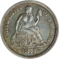 1874-CC 10C Arrows--Improperly Cleaned--NCS. XF Details....(PCGS# 4669)