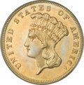 Three Dollar Gold Pieces, 1885 $3 MS64 PCGS. CAC....
