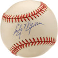 Autographs:Baseballs, Early Wynn Single Signed Baseball. The aggressive fastballer EarlyWynn earned Hall of Fame notoriety, finishing his career...